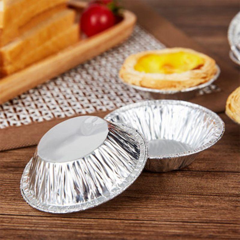 250 cái Dùng Một Lần Nhôm Lá Mỏng Nướng Trứng Tart Pan Cupcake Trường Hợp  Tấm Khuôn Tin Egg Tart Khuôn Bánh Công Cụ|Khuôn Bánh| - AliExpress
