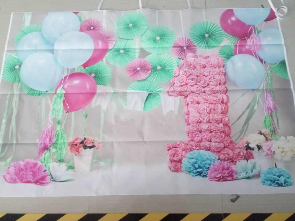Photography backdrops Balloon Kids 1st Birthday photo background Baby  Shower children birthday Cake Smash studio Backdrops