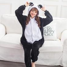2019 Halloween Adult Anime Pajamas Sets Cartoon Sleepwear Women Flannel Animal Panda Unicorn Winter Warm Hooded