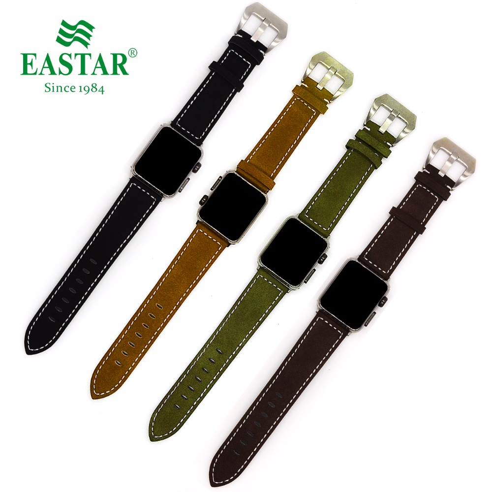 Eastar New vintage leather watchbands for iwatch bracelet Apple Watch Band 42mm 38mm Sport Bracelet For Series 1&2 watch strap eastar genuine leather for iwatch bracelet apple watch band 42mm 38mm sport bracelet for series 1