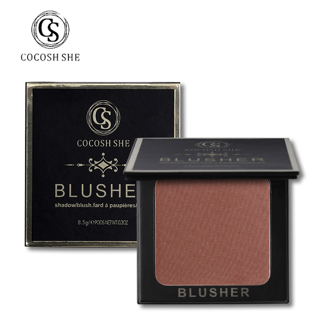 COCOSH SHE Professional Brand Makeup Blush Powder Nude Blusher Palette Rouge Bronzer Cheek Face Base Natural Make Up