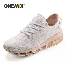 ONEMIX Women Sneakers Air Cushion Running Shoes Breathable Mesh Footwear Walking Shoes Athletic Outdoor Sport Shoes Big Size 43 onemix men flash running shoes air cushion wearable sport shoes breathable comfort fitness sneakers outdoor casual walking shoes