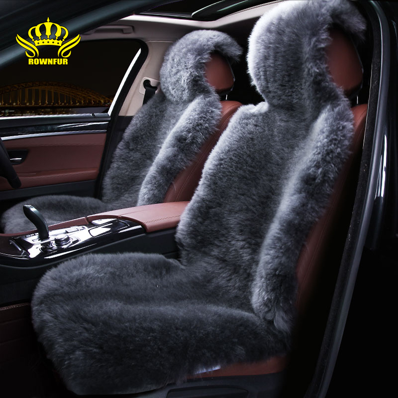 Natural sheepskin car seat cover Fit for most cars feel comfortable warm and luxurious breathable refreshing