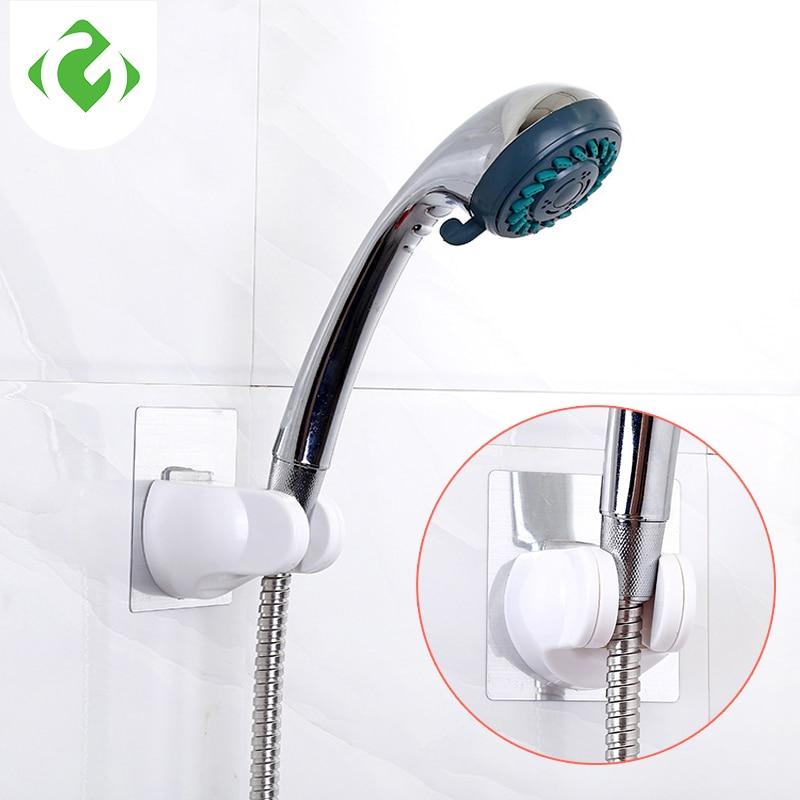 1PC Adjustable Wall Mount Bathroom Shower Head Holder Base Movable Fixed Bracket Shower Room Arm Swivel Seat Bathroom Tools Acce