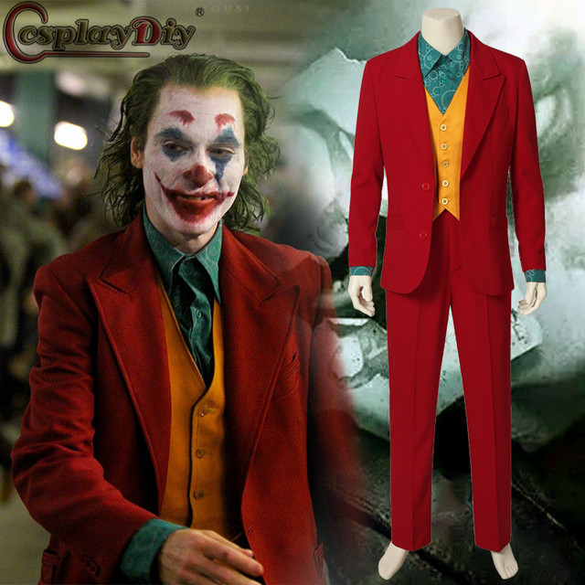 Cosplaydiy Movie Joker Romeo 2019 Arthur Fleck Cosplay Fancy Carnival Halloween  Costumes Batman Joker Costume Red Suits