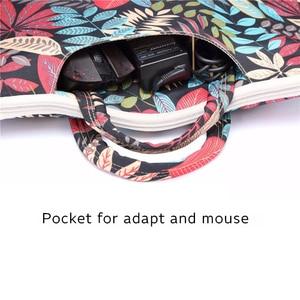 Image 5 - Laptop Bag 13 14 15.6 inch Case Notebook Bag For Macbook Air Pro 15.4 Laptop Shoulder Bag Floral Portable for Xiaomi Notebook