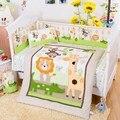 100% хлопок  Детские комплекты постельного белья  милый мультяшный бампер для детской кроватки  бамперы + пододеяльник + подушка + простыня  7 ш...
