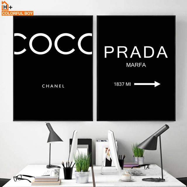 Paris Quotes Black White Posters Prints Wall Art Canvas Painting Bar