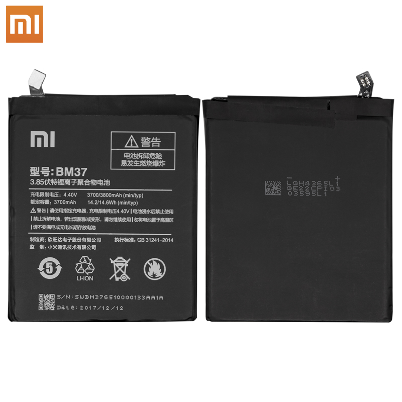 Image 2 - Xiao Mi BM37 For Xiaomi Mi 5s Plus International Version Cellphone Battery 3800mAh High Capacity PCB Lithium Polymer Battery-in Mobile Phone Batteries from Cellphones & Telecommunications