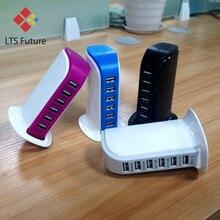 Szybki Multi 6 USB Port koncentratora ładowarka pulpit szybkie ładowanie stacja dokująca strona główna wiele Adapter podróżny gniazdo ścienne US AU ue UK wtyczki