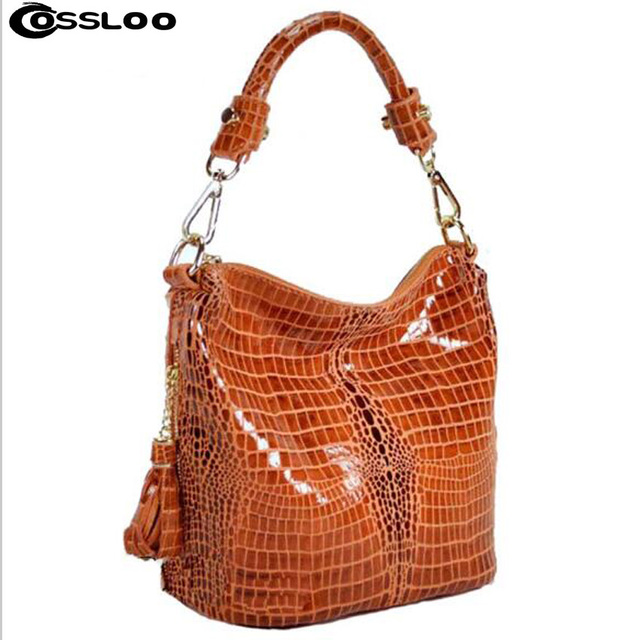 COSSLOO Women Handbags Crocodile Designer Bags Handbag For Women Famous  Brand 2018 Bolsos Feminina Women Leather Handbags Outlet 440fe65e0cb4c