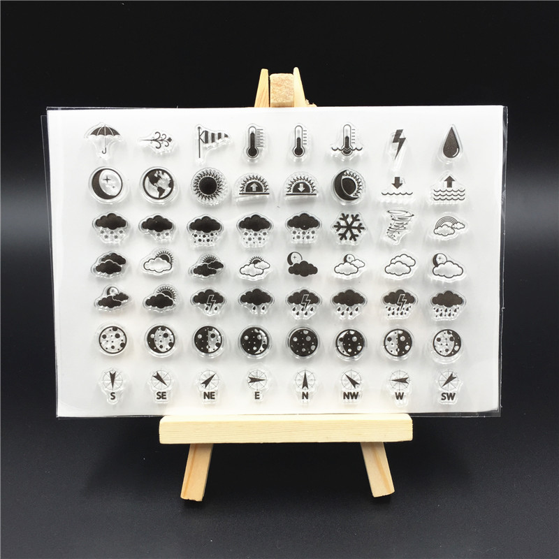 Weathe Transparent Clear Silicone Stamp/Seal for DIY scrapbooking/photo album Decorative ...