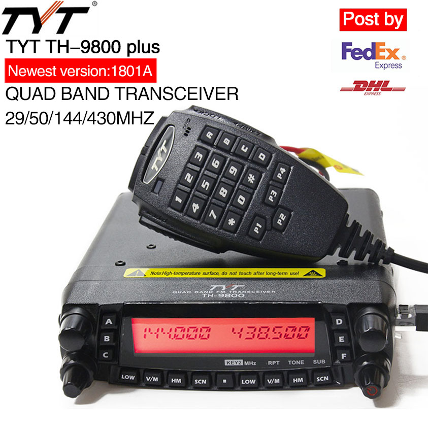 TYT TH 9800 Plus Mobile Radio 1806A Version Quad Band Transceiver TH9800 Walkie Talkie Car Truck