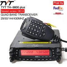 TYT TH9800 TH-9800 Plus 1806A Versão Quad Band Transceptor de Rádio Móvel Scrambler Walkie Talkie Repetidor de Rádio Do Caminhão Do Carro