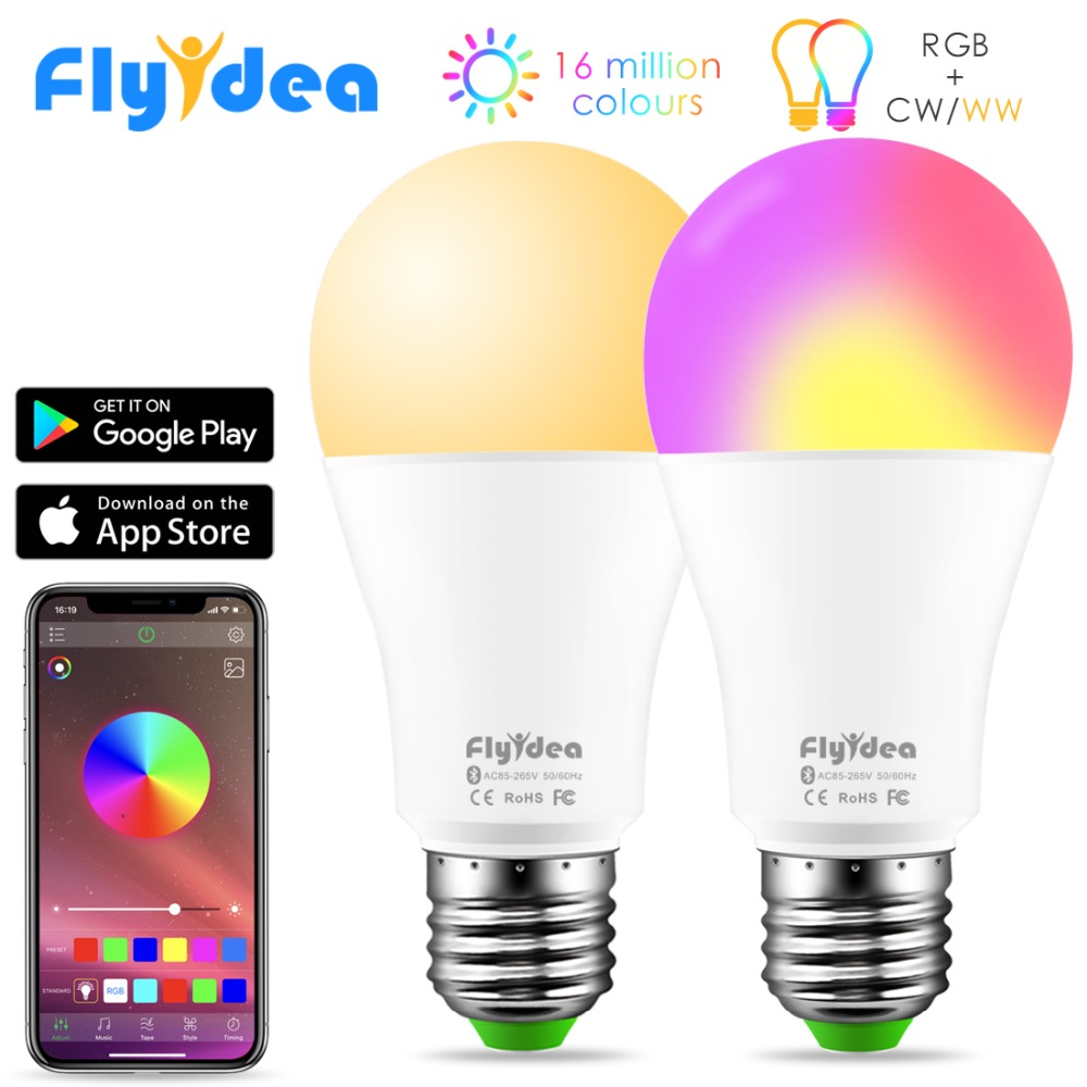 New Wireless Bluetooth Smart Bulb LED 10W RGB Magic Lamp E27 Color Change Light Bulb Smart Home Lighting Compatible IOS /Android