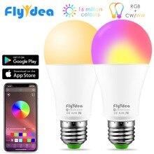 Беспроводной цветомузыкальный Bluetooth Громкоговоритель Светодиодный 10 Вт RGB волшебная лампа E27 изменение цвета лампочки умное Домашнее освещение Совместимо с IOS/Android
