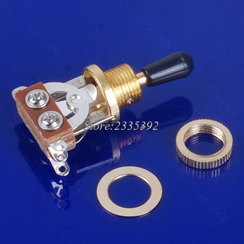Free Shipping 3-Way Guitar Selector Pickup Toggle Switch Guitar Parts For Guitars Gold 3 way selector guitar pickup toggle switch for epi lp sg nickel gold