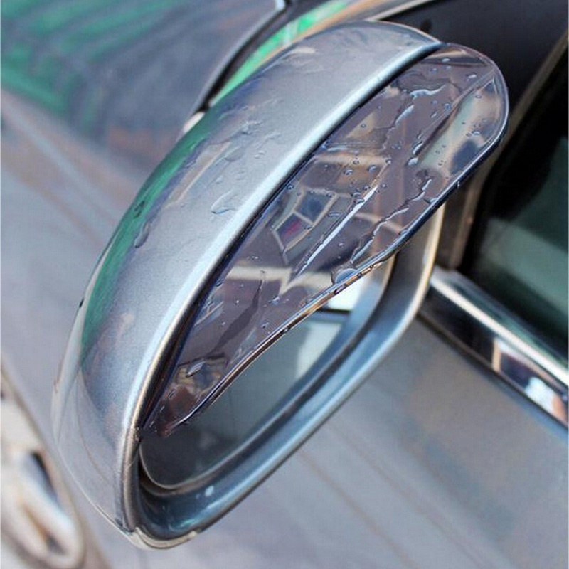 DHL 50PCS Black Car Rearview Mirror Rain Water Rainproof Eyebrow Cover Side Shield Favor