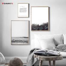 Nordic Natuurlijke Landschap Prints Posters Bos Ocean Sea Canvas Schilderij Minimalistische Muziek Note Wall Art Pictures Home Decor