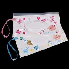 Уход за ребенком, влажная бумажная сумка с крышкой, Мультяшные дорожные салфетки, чехол, многоразовый тканевый органайзер для ребенка, уличные сумки для переноски, для коляски, автомобиля