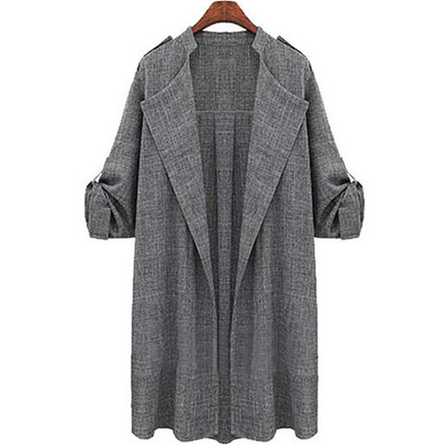 GraceAngie 1 Piece  NEW Fashion Winter Fall  Women's Lady's Girls'  Gray Trench