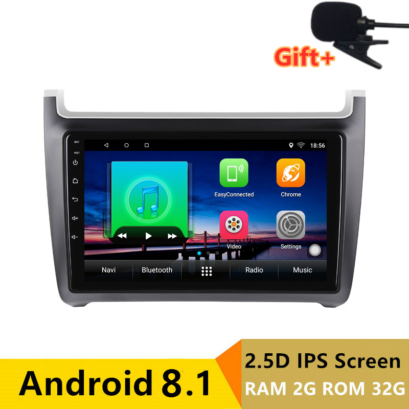 "10.1"" 2G RAM 32G ROM Android Car DVD Video Player GPS For vw polo 2011 2012 2013-2016 audio car radio stereo navigation headunit"