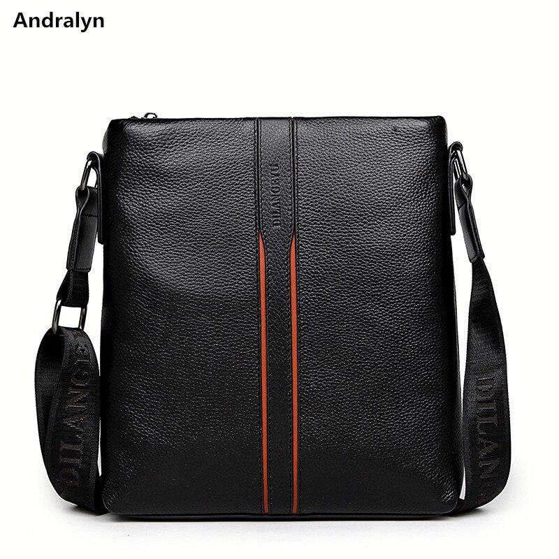 2018 Men's Crossbody Bags Quality Male Messenger Bag on over His Shoulder Leather Men Handbag Travel Fashion Business Work Bag