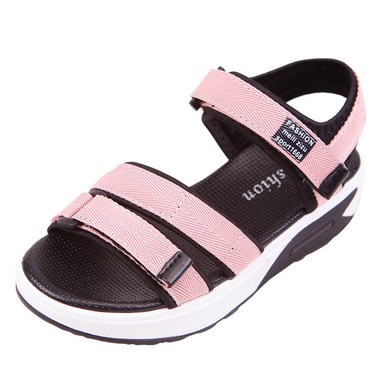 Girl Sandals 2018 Summer Style Children Sandals School Shoes Kids Flat Boys Sandals Baby Girls Roman Shoes Sandals Girls mmnun 2017 boys sandals genuine leather children sandals closed toe sandals for little and big sport kids summer shoes size26 31