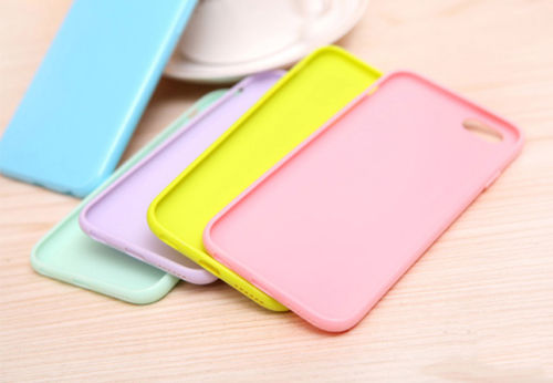 PASTEL CANDY GLOSS SHINY SOFT SILICONE CASE COVER SKIN SHELL FOR IPHONE X 6 7 8 PLUS 5S 5C 4S XR XS Max 6S SE Fundas Coque in Fitted Cases from Cellphones Telecommunications