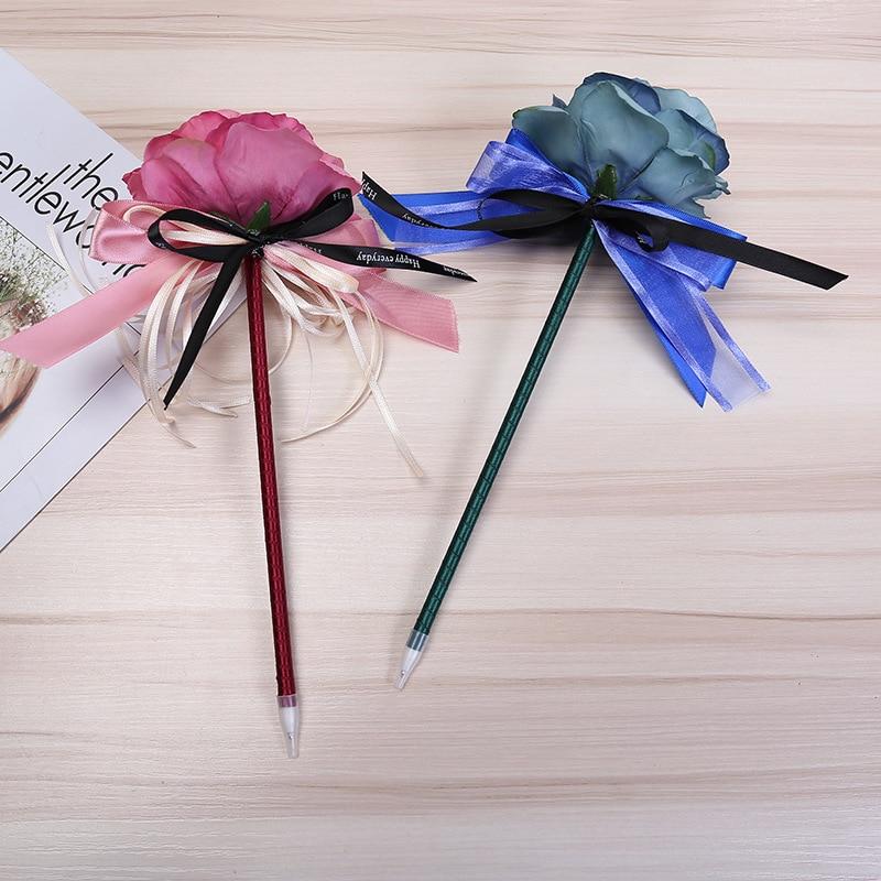 Creative ballpoint pen ribbon bow bag ribbon flower pens pole sign creative ballpoint pen ribbon bow bag ribbon flower pens pole sign pen for wedding advertising pens material escolar in ballpoint pens from office school mightylinksfo