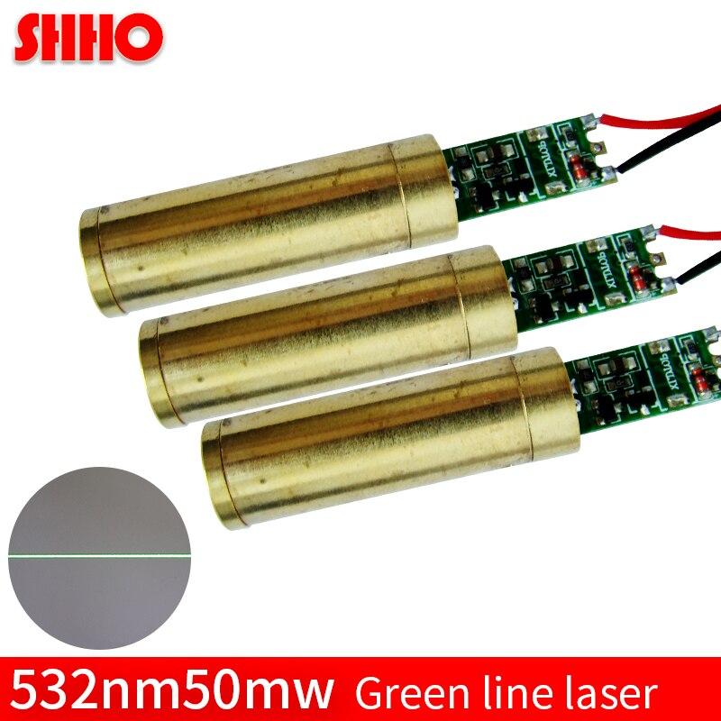 High quality 532nm 50mw green line laser module industrial laser locator positioning laser marking launcher light source emitter
