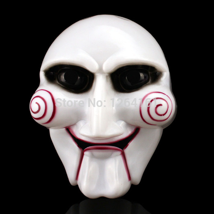 yusong electric saw mask halloween cosplay party saw horror movie saw billy mask jigsaw puppet adam creepy scary freedrop shipp in party masks from home - Halloween The Movie Song