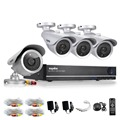 SANNCE CCTV System HD 8CH HDMI DVR 4PCS Home Security Silver Bullet Camera Video Surveillance System Kit