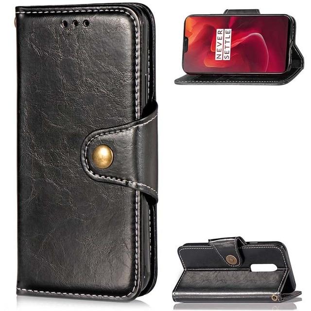 Retro Leather Case Oneplus 6 3 3T 5 5T Cover One Plus 6 5 5t 3 3T Wallet Flip Phone Case Oneplus6 Oneplus5 Oneplus 5T Coque