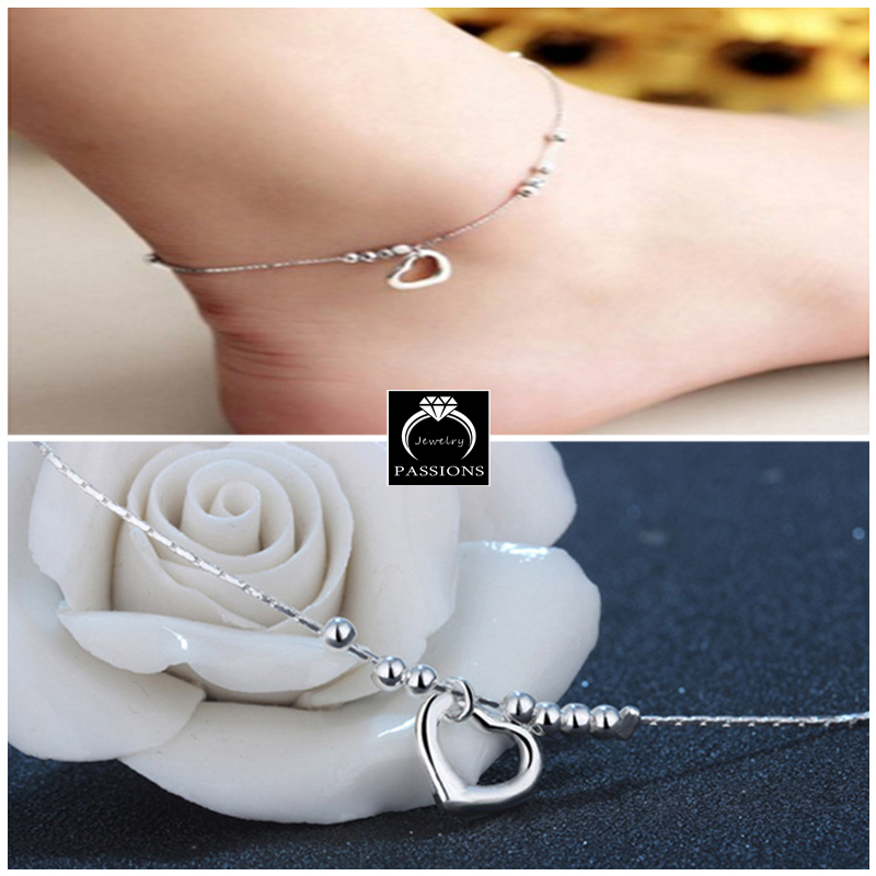 New Fashion Foot Anklet 925 Sterling Ladies Sølv Kugle Armbånd - Mode smykker - Foto 6
