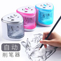Neue elektrische doppel-loch bleistift spitzer automatische bleistiftspitzer für student kunst zeichnung