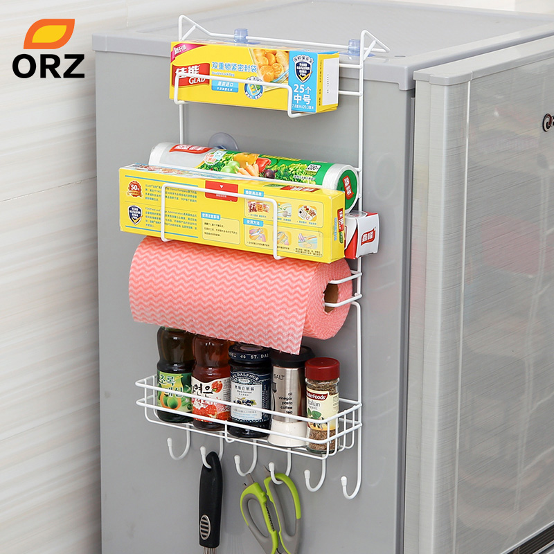 ORZ Kitchen Nevera Side Shelf Rack Sidewall Multipurpose Shelf Crack Storage Rack Multi-layer Holder Refrigerator Estante Fridge