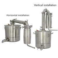 30L Home Stainless Steel Alcohol Distiller Wine Brewing Device Spirits(Alcohol) Distillation Boiler