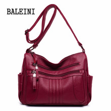 Female leather Messenger Bags Feminina Bolsa Leather Luxury Handbags Women Bags Designer 2019 Sac a Main Ladies Shoulder Bag totem women bag modis genuine leather bag bolsa 2018 feminina handbag sac a main luxury designer shoulder