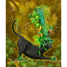 5D diy diamond painting Cat full square embroidery mosaic cross stitch needleworks H756