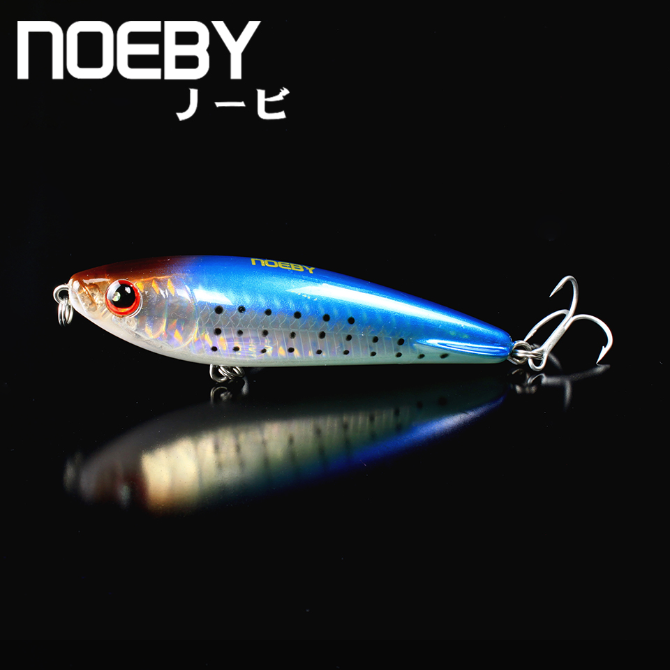 NOEBY 1 Pcs Fishing Lure 95mm/25g Sinking Super PENCIL Leurres Long shot Hard Bait VMC Treble Hooks 3D Eyes Simulated NBL 9068 noeby nbl9062 fishing lures 66g 140mm pencil sinking leurre peche mer brochet hard fishing bait