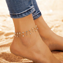 Minimalist Bow Round Mosaic Zircon Anklets Bracelets Chic Leg Bracelets Anklet Chain Gift For Women Jewelry chic solid color anklet for women