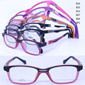 wholesale T8008 unisex pupil TR90 bicolor full-rim 180 degree flexible hinge rectange shape optical glasses frame free shipping