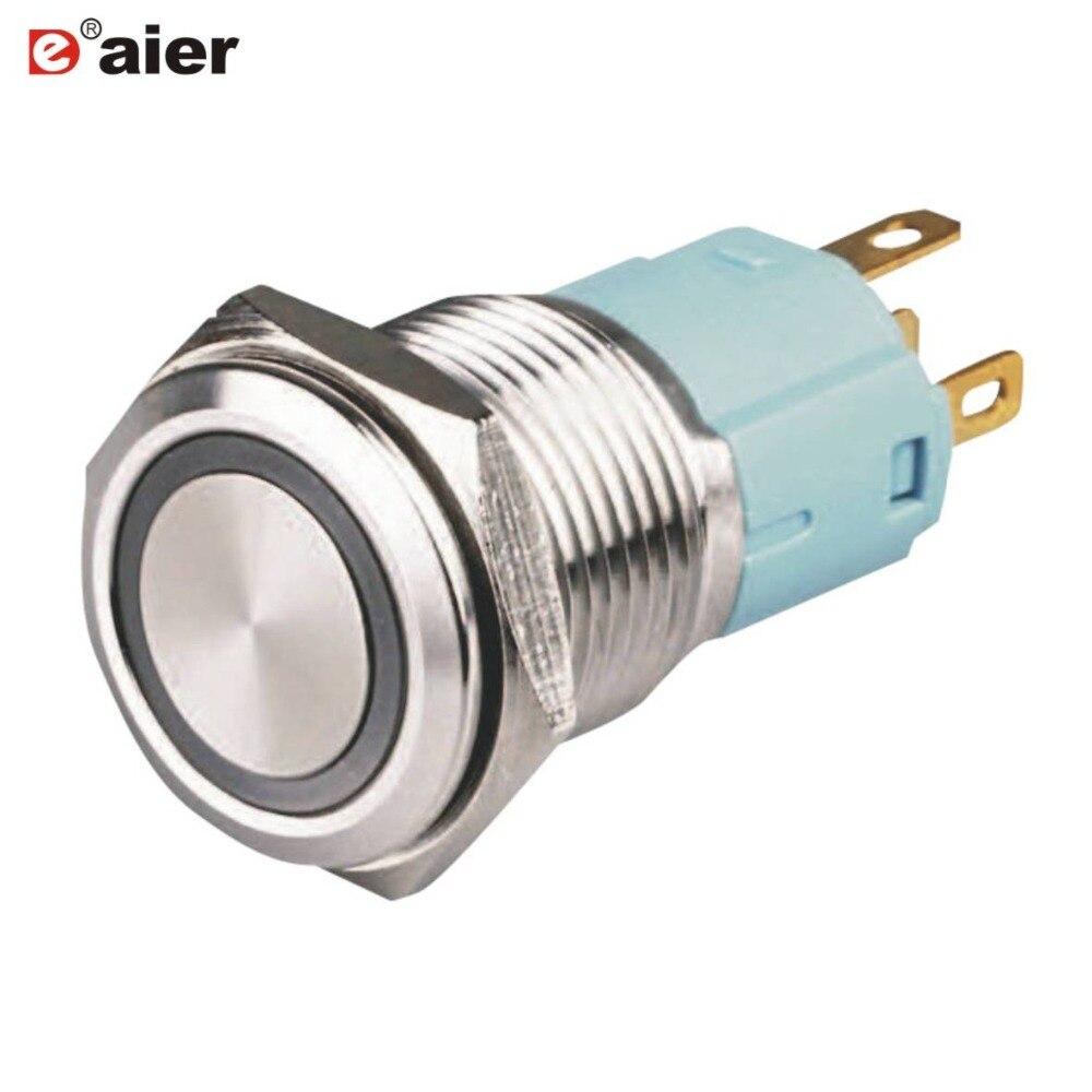 40PCS LAS3 16F 11EM 16mm Momentary illuminated Push Button Switch