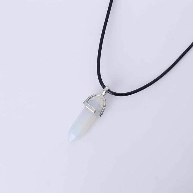 Women's Natural Crystal Stone Necklace