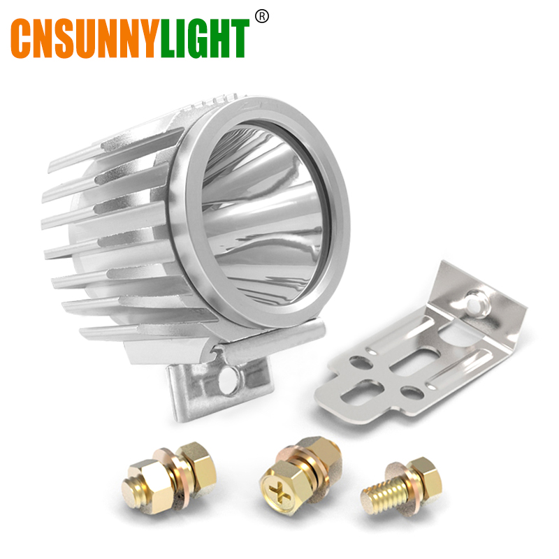 CNSUNNYLIGHT Motorrad Led-strahler 6 Watt 1000Lm XML-T6 Aluminium Nebel DRL Licht Scheinwerfer Roller/Bike/Moto Scheinwerfer Wasserdicht