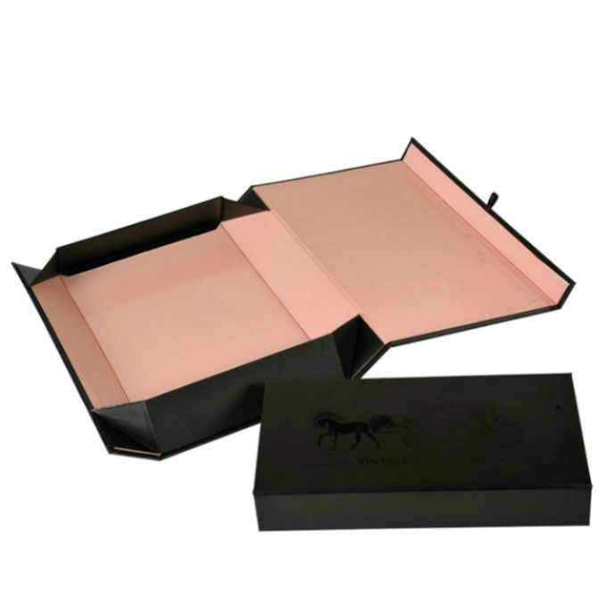 ee0e43d8 High Quality Satin Lined Gift Boxes Packaging Custom Design For Gift/Clothes  With Rose Gold