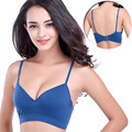 5 Color M, L Woman Cotton Bras Casual Tow Hook-and-eye Padded Top Vest Brand Double-deck Shockproof Bras Women