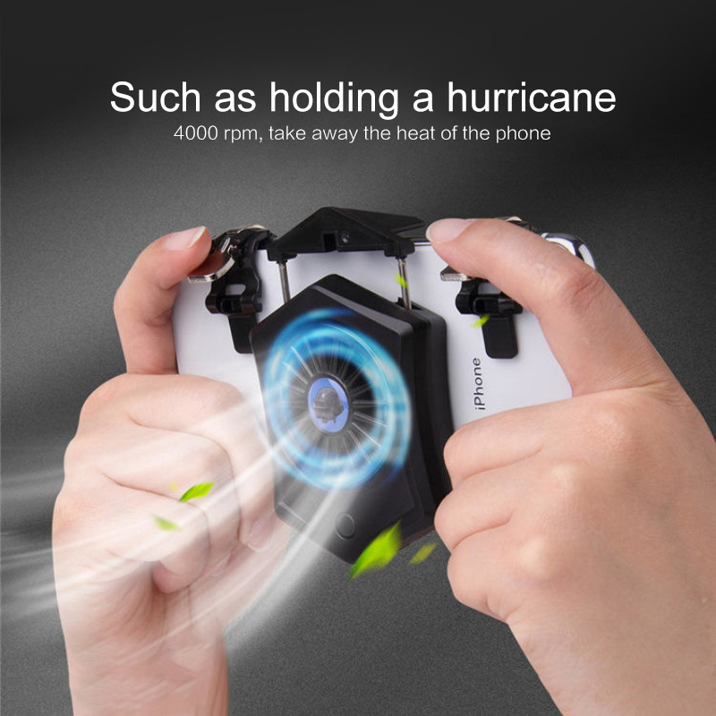 Mobile Phone Cooler Fan Holder Cooling Pad Gamepad Game Gaming Shooter Mute Radiator Controller Heat Sink Universal Port cb 8008