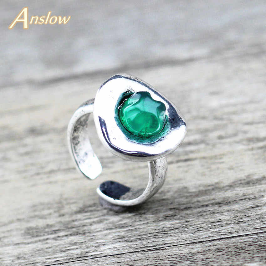 Anslow Fashion Jewelry New Design Vintage Resin Zinc Alloy Women's Finger Ring For Female Party Gift Free Shipping  LOW0018AR